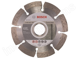Алмазный диск Standard for Concrete Bosch d=115х10х22,2мм