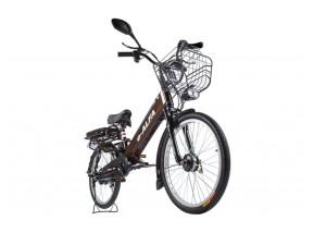 Электровелосипед (велогибрид) коричневый Eltreco GREEN CITY e-ALFA new